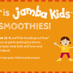 Jamba Juice Free Smoothies for Kids