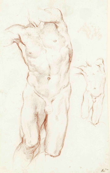 Fig. 9. Gian Lorenzo Bernini, Two Studies for Daniel, c. 1655, Red chalk. Museum der Bildenden Kunste/Leipzig Museum of Fine Arts.