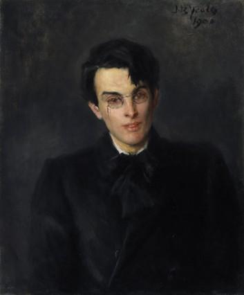 Portrait of William Butler Yeats (1865-1939) by John Butler Yeats (1839-1922). National Gallery of Ireland.