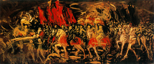 Oscar Parviainen. The Funeral Procession. Inspired by an improvised funeral march Sibelius played for the artist in Paris in 1905. Ainola art collection. From www.ainola.fi