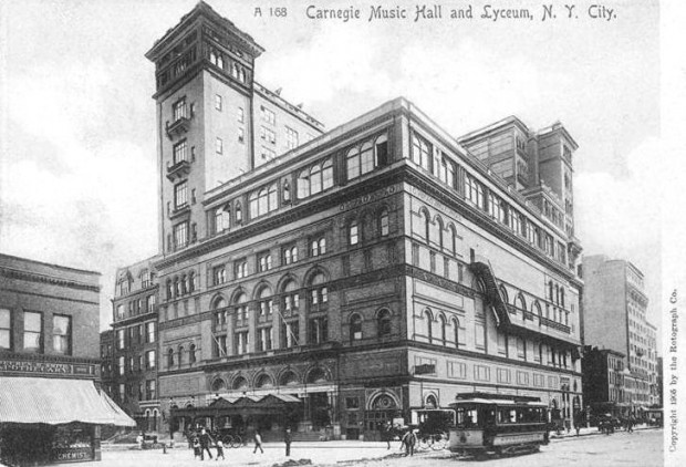 Carnegie Hall, 1906