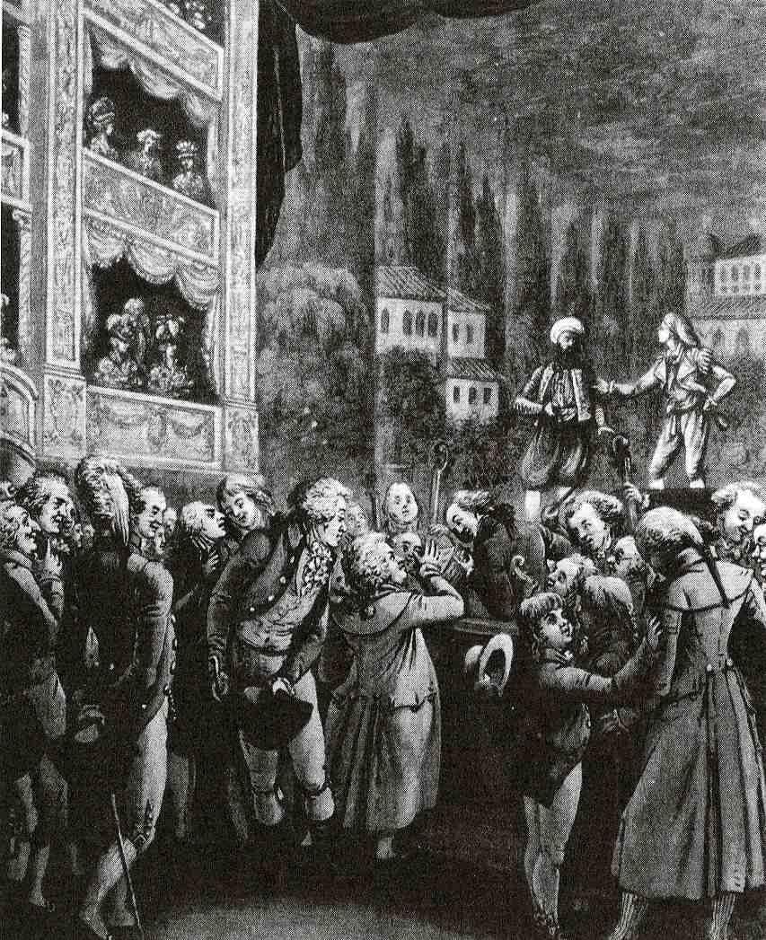 Mozart conducting his Entführung aus dem Serail