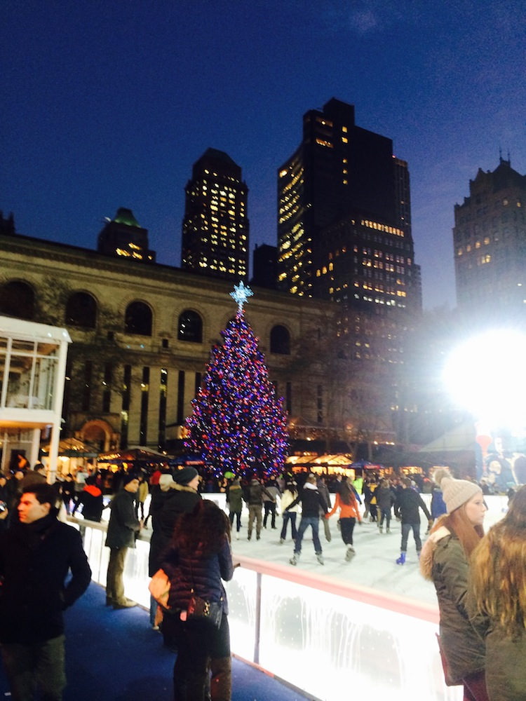 bryant park christmas skating