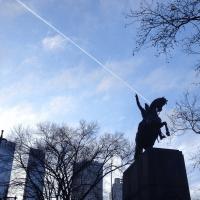 central-park-statue-sky