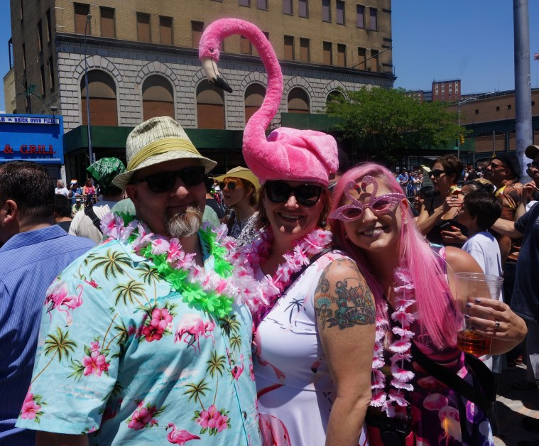 coney island mermaid parade flamingo