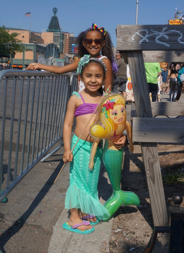 coney island mermaid parade kids