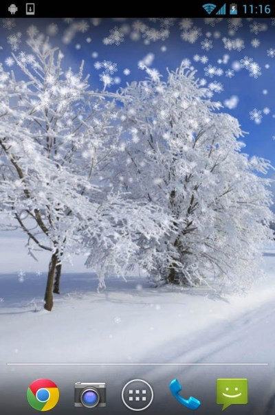 Top 7 Beautiful Winter Snow Live Wallpapers for Android