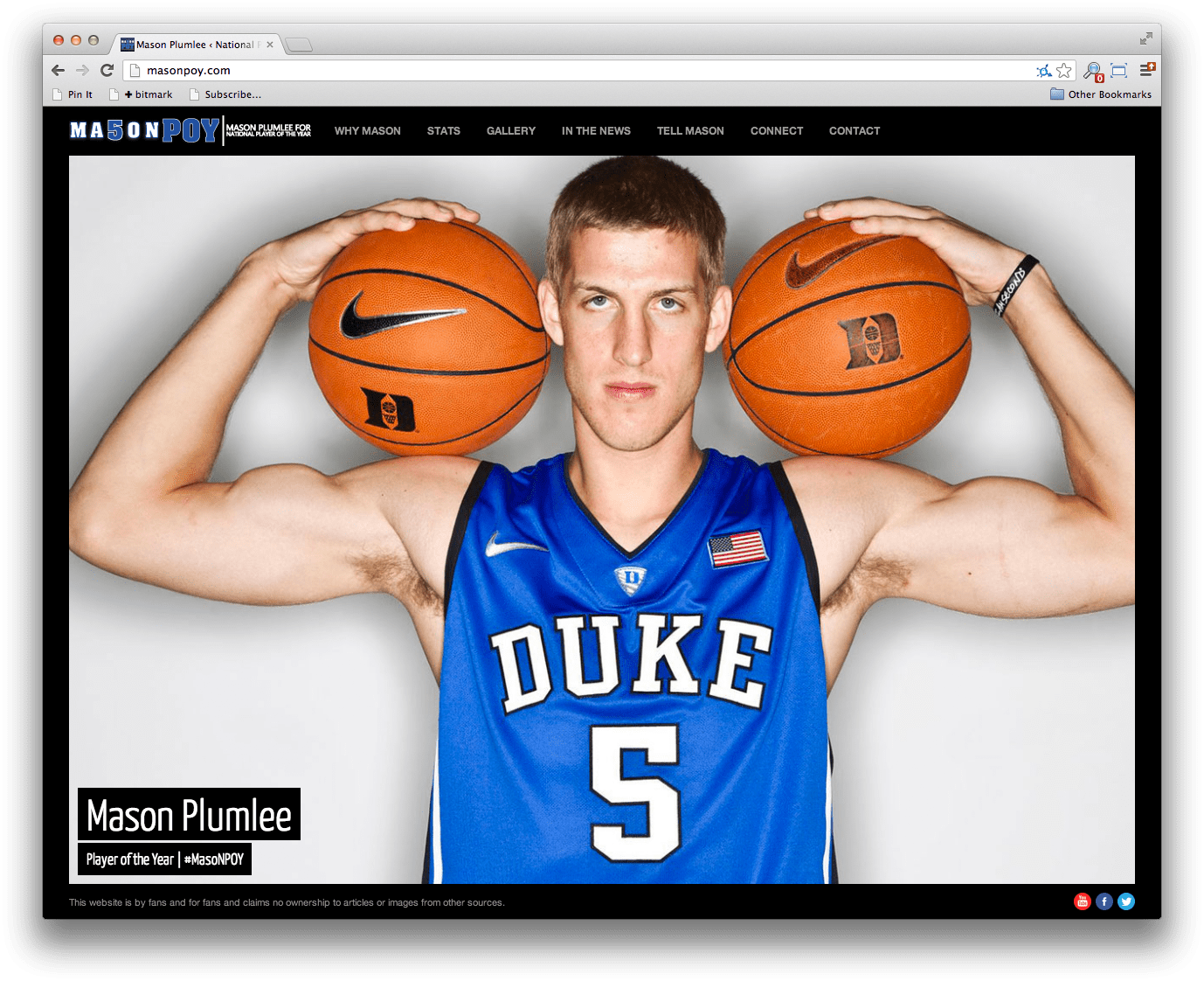 Mason Plumlee, Player of the Year