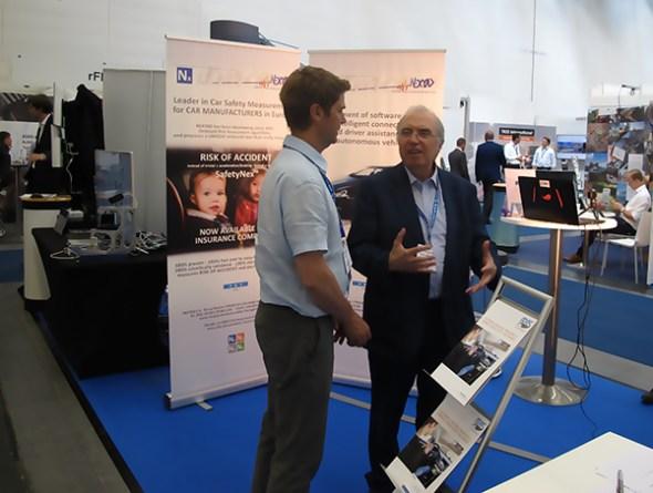 Nexyad booth at Autonomous Vehicle Symposium
