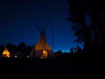 a night in the tipi, Rob Sizer