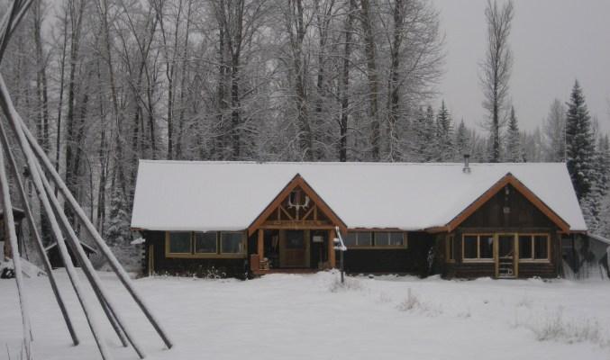 wintery hostel