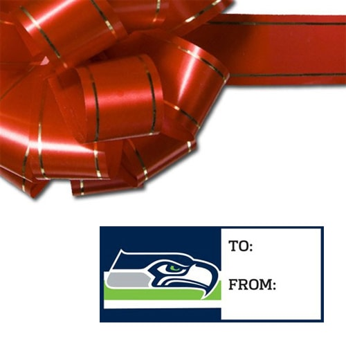 Seattle Seahawks WinCraft Set of 10 Adhesive Gift Tags