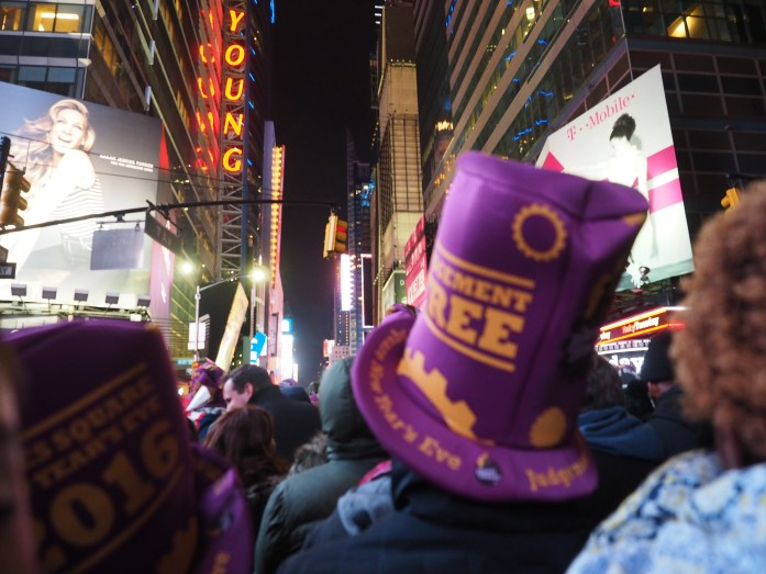 New Years 2016 in New York City Times Square