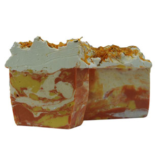 calendula swirl soap