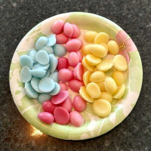 Easter Basket Candles Recipe Finished Eggs