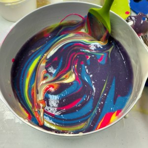 Peeps Cold Process Soap Recipe Doing the Pot Swirl