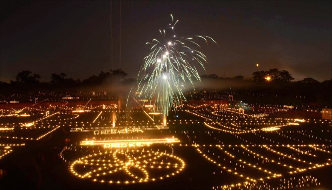 Diwali, India via rediff.com