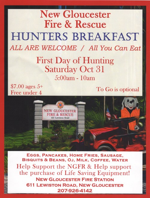 New Gloucester Fire & Rescue Hunter's Breakfast