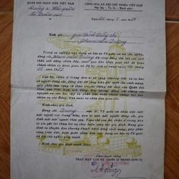 Sau khi Trung Quốc cho biết tên tuổi 9 người bị họ bắt giữ, ngày 22-5-1989, Vùng 4 Hải quân gửi thư chia buồn tới gia đình những người lính được xác định là hy sinh trong trận hải chiến Gạc Ma.