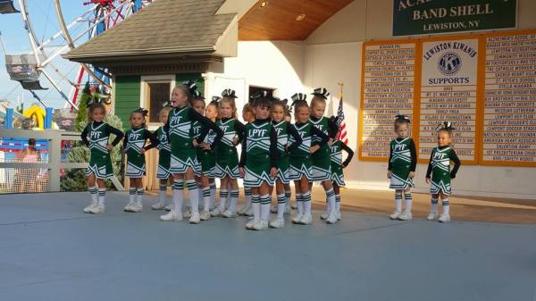 Peach Festival cheerleading competition