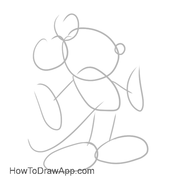 How to draw Mickey Mouse 01