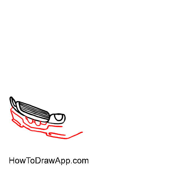 How to draw a car 04