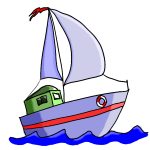 How to draw a cartoon boat step by step for kids