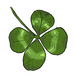 How to draw 4 leaf clover step by step
