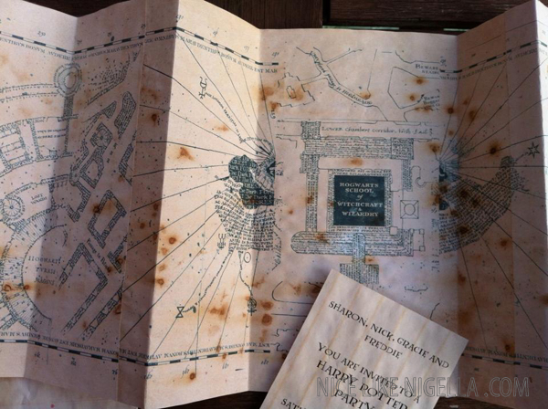Making a Harry Potter Marauder's Map