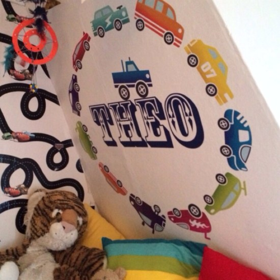 Children's Car Mural with Wall Stickers
