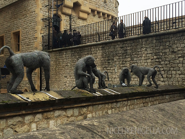 Tower of London menagerie wire sculptures