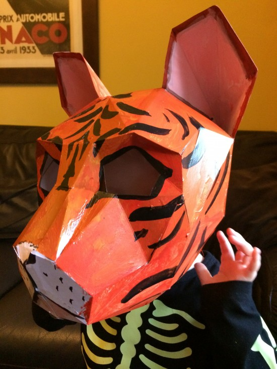 Making a Tiger Mask