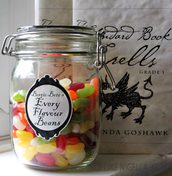image relating to Bertie Botts Every Flavor Beans Printable titled Harry Potter goody baggage: The Traditional Guide of Spells and