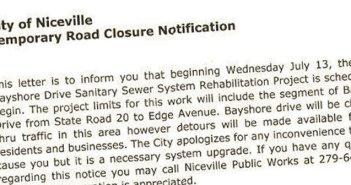 Bayshore Drive Closed Niceville