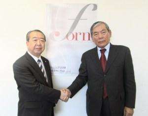 設楽社長(左)と久保社長