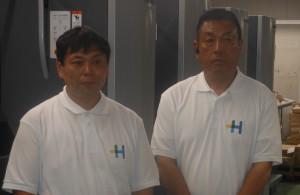 樋口社長(左)と中谷テクニカルマネージャー
