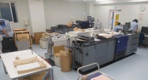 PODセンター1Fには多くのデジタル印刷機が稼働