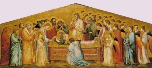 Giotto._The_Dead_of_the_Virgin._c._1310._179x75cm._Gemaldegalerie,_Berlin