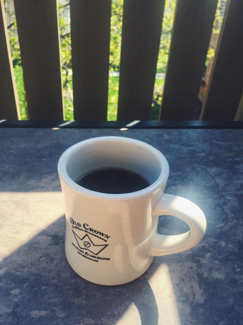 The contradiction cup, Old Crown mug, Utopian Coffee