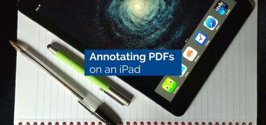 Annotating PDFs on an iPad