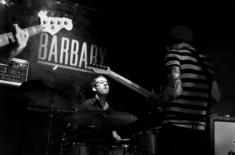 Nick Costa perfroming with Modern Suits at the barbary in philadelphia opening for There For Tomorrow