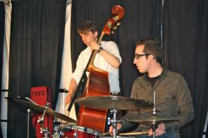 Nick Costa performing at the Norristown Art Hill festival with the george weldon trio