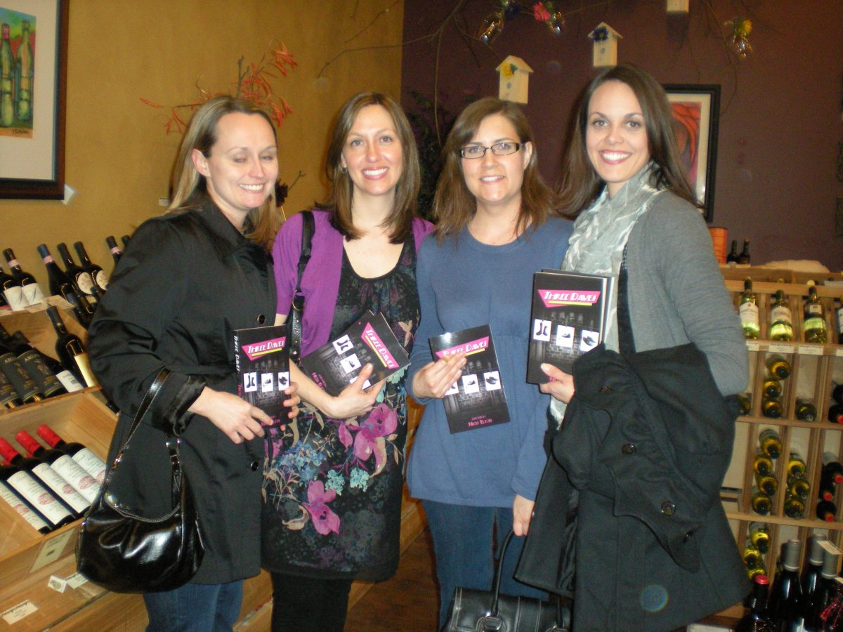 Bartlett beauties enjoy Three Daves with a fine wine at Gibby's Wine Den in Geneva, IL