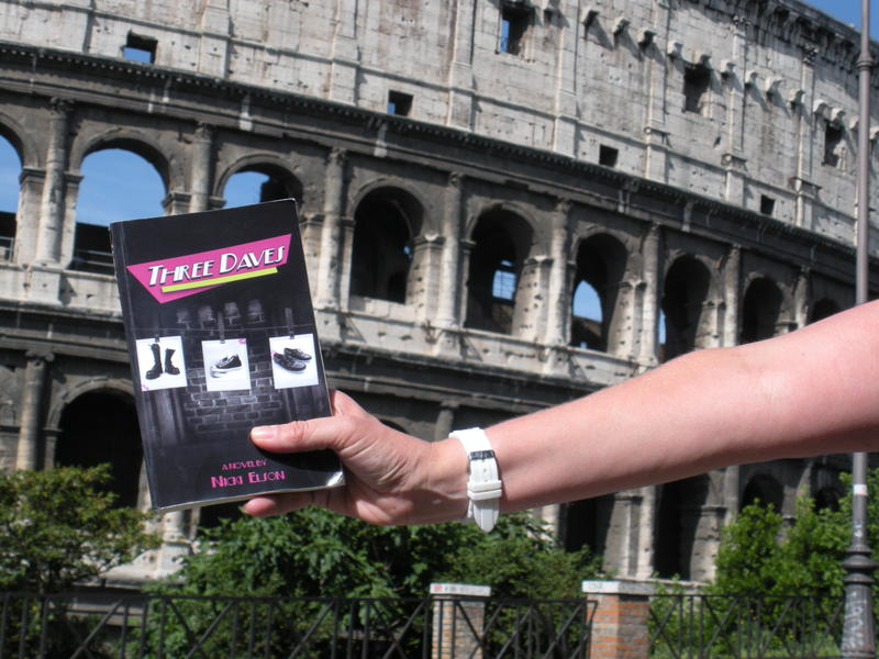 Three Daves go gladiator at the one and only Colosseum in Roma, Italia! And now I'm getting jealous of my book. That can't be healthy.