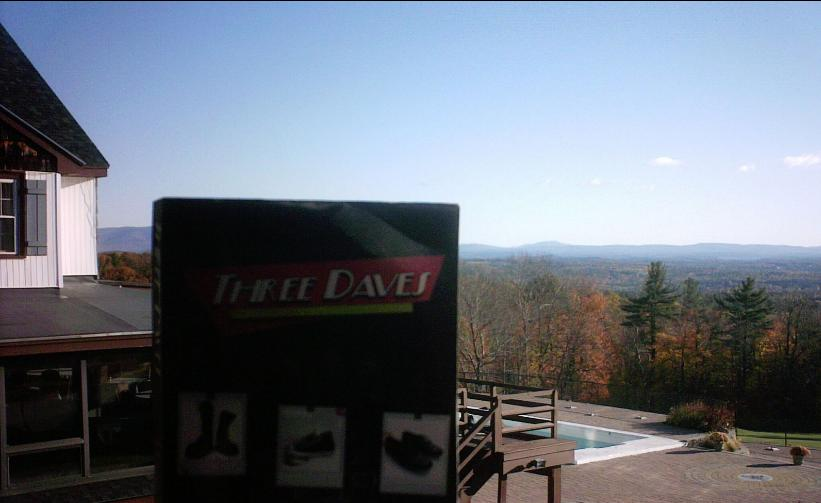 Three Daves get away from it all in New Hampshire, overlooking the serenity of the White Mountains.