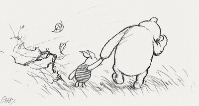 Winnie The Pooh and Piglet Holding Hands during EU Referendum Brexit Meme