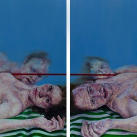 "Relationship Study #1 - 2 panels; each 48""x36"" - oil on canvas"
