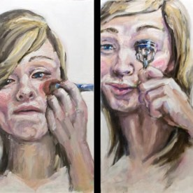 "Transformation #2 - 4 panels; each 24""x12"" - oil on board"