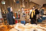 Members of Blouse shopping for Icelandic treasures