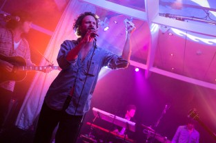 Father John Misty performing live on the S.S. Coachella